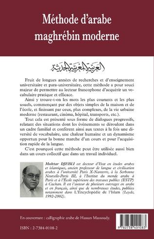 4eme Méthode d'arabe maghrébin moderne