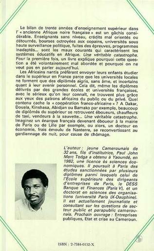 4eme Enseignement supérieur en Afrique Noire francophone