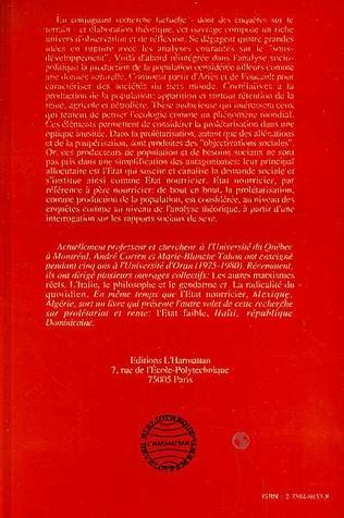 4eme L'Etat nourricier, prolétariat et population Mexique/Algérie