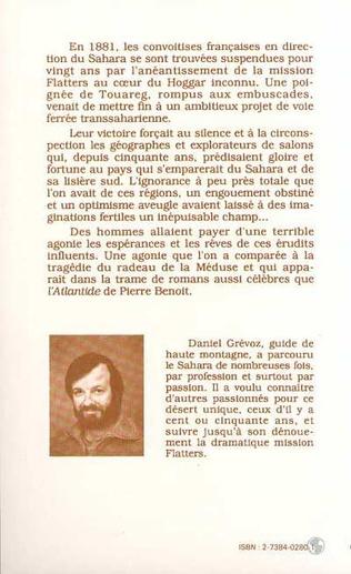 4eme Sahara 1830-1881: les mirages français et la tragédie Flatters