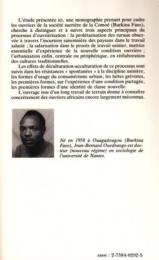 4eme Formation de la classe ouvrière en Afrique Noire - L'exemple du Burkina Faso
