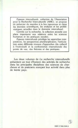 4eme La recherche interculturelle