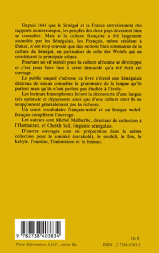 4eme Parlons wolof : langue et culture