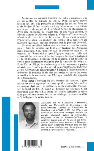 4eme Cheikh Anta Diop ou l'honneur de penser