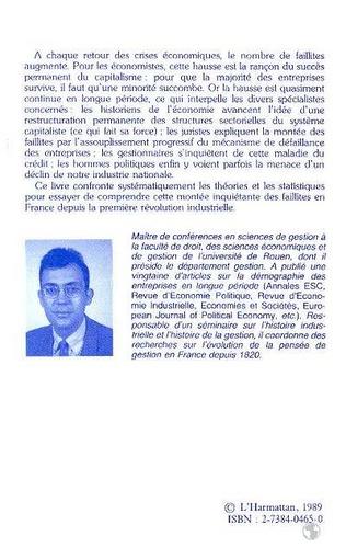 4eme La montée des faillites en France, XIXe-XXe siècles