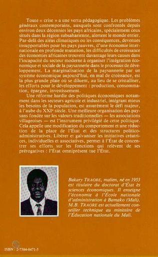 4eme L'intégration économique de la paysannerie en Afrique subsaharienne