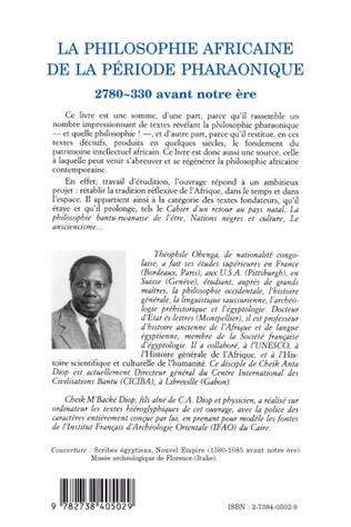 4eme La philosophie africaine de la période pharaonique