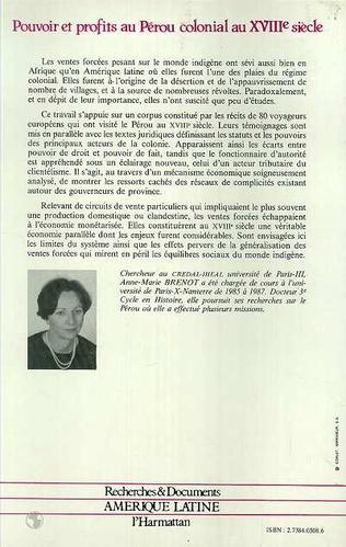 4eme Pouvoir et profits au Pérou colonial au XVIIIe siècle