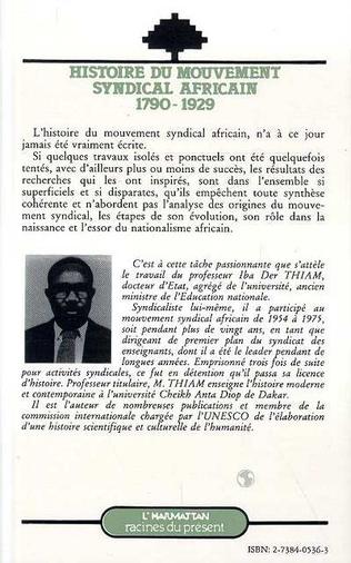 4eme Histoire du mouvement syndical africain