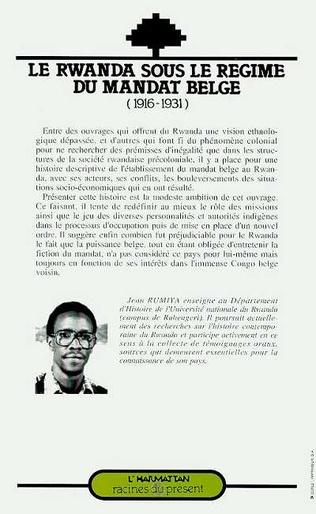 4eme Le Rwanda sous le régime du mandat belge (1916-1931)