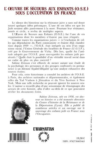 4eme L'oeuvre de secours aux enfants sous l'Occupation en France