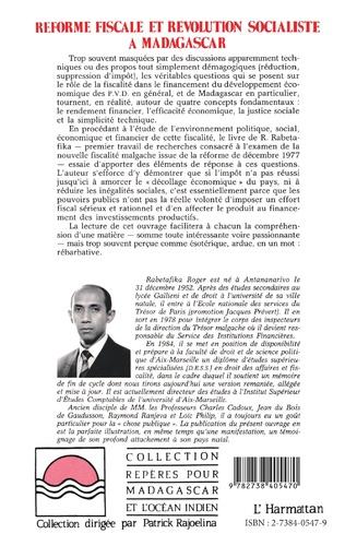 4eme Réforme fiscale et révolution socialiste à Madagascar