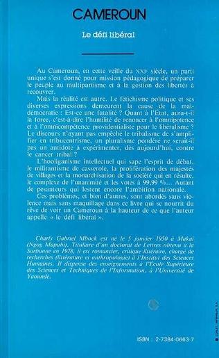 4eme Cameroun, le défi libéral