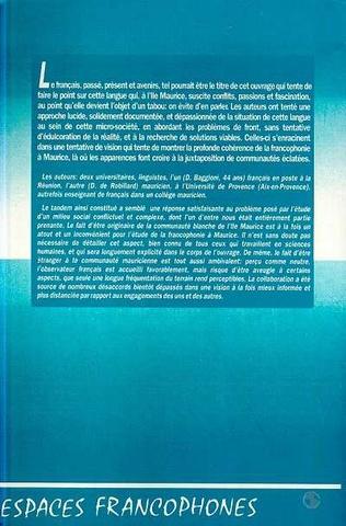 4eme Ile Maurice, une francophonie paradoxale