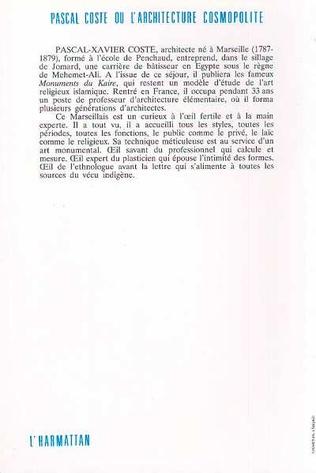 4eme Pascal Coste ou l'architecture cosmopolite