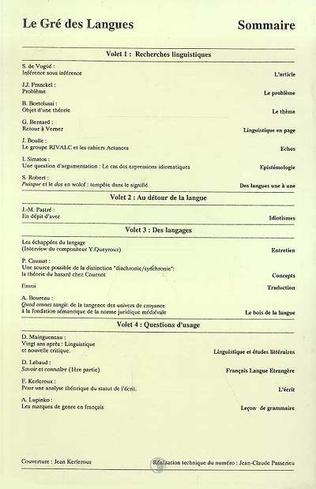 4eme Le gré des langues n°1