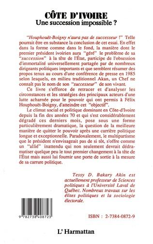 4eme Côte-d'Ivoire : une succession impossible ?
