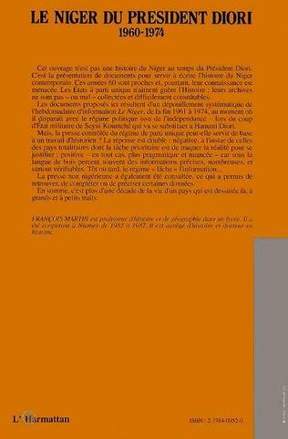 4eme Le Niger du Président Diori 1960 - 1974