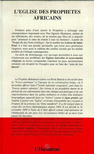 4eme L'église des prophètes africains