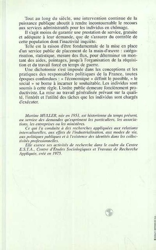 4eme Le pointage ou le placement - Histoire de l'ANPE