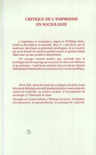 4eme L'empirisme en sociologie