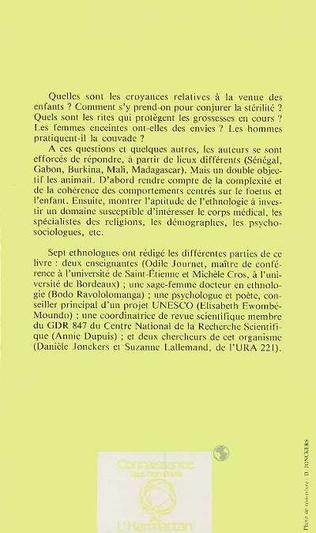 4eme Grossesse et petite enfance en Afrique Noire et à Madagascar