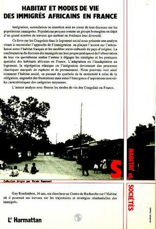 4eme Habitat et modes de vie des immigrés africains en France