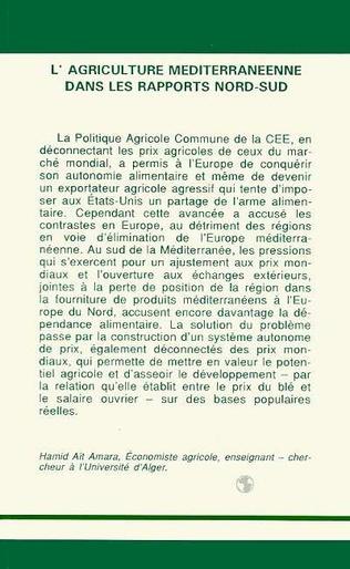 4eme L'agriculture méditerranéenne dans les rapports Nord/Sud