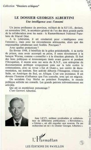 4eme Le dossier Georges Albertini