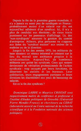 4eme La fin des syndicats ?