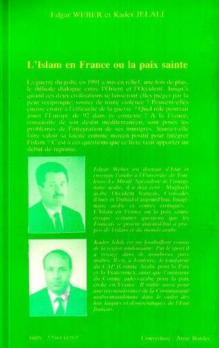 4eme L'islam en France ou la paix sainte