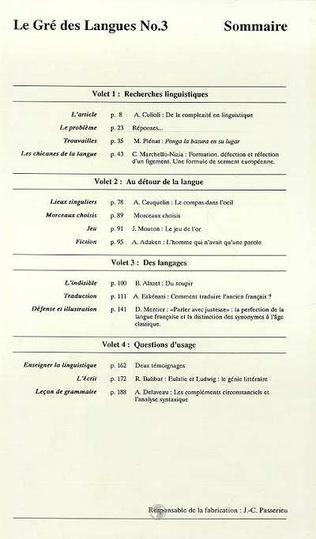 4eme Le gré des langues n°3