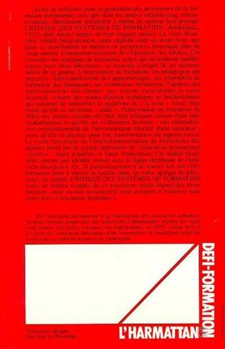 4eme Critique des systèmes de formation des adultes (1968-1992)
