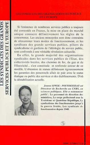 4eme Les syndicats des grands services publics et l'Europe