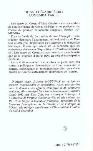 4eme Quand Césaire écrit, Lumumba parle