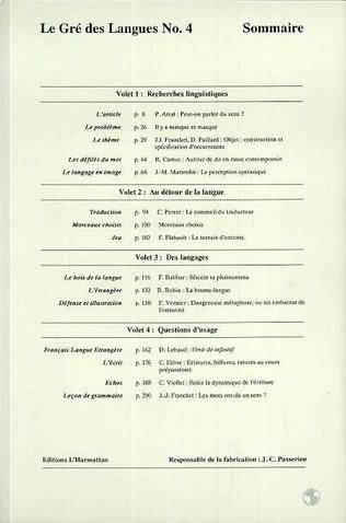 4eme Le gré des langues n°4