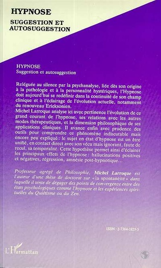4eme Hypnose, suggestion et autosuggestion