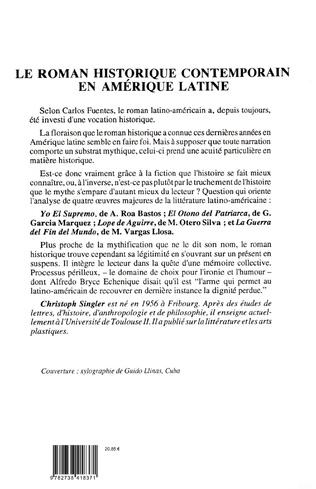 4eme Le roman historique contemporain en Amérique latine