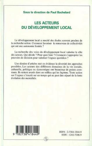 4eme Les acteurs du développement local