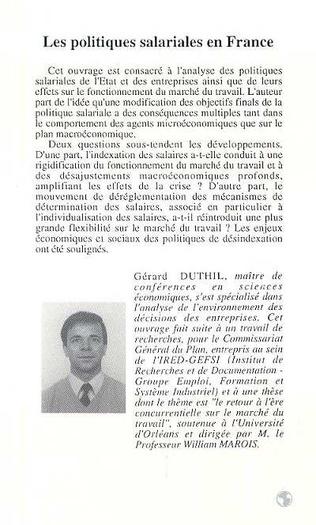 4eme Les politiques salariales en France 1960-1992