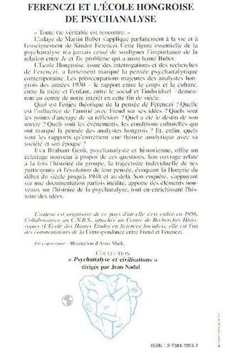 4eme Ferenczi et l'école hongroise de psychanalyse