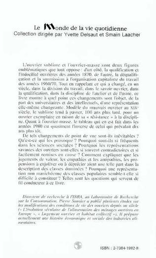 4eme L'ouvriérisme universitaire