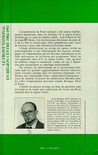 4eme Front National en région centre 1984-1992