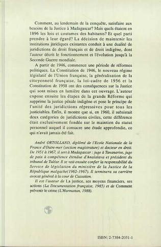 4eme Les institutions judiciaires à Madagascar et dépendances