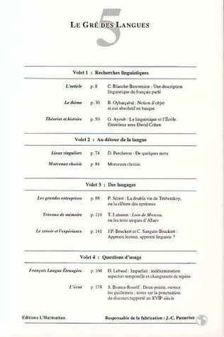 4eme Le gré des langues n°5