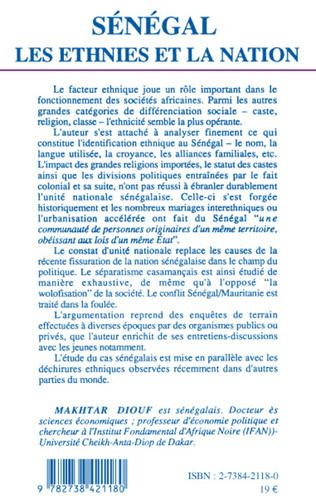 4eme Sénégal : les ethnies et la nation