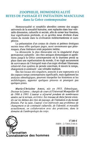 4eme Zoophilie, homosexualité, rites de passage et initiation masculine dans la Grèce contemporaine