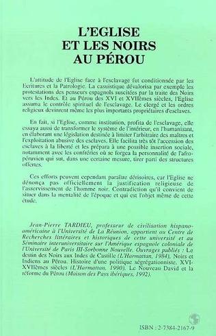 4eme L'Eglise et les Noirs au Pérou