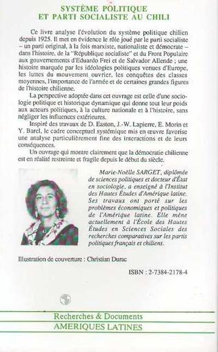 4eme Système politique et parti socialiste au Chili