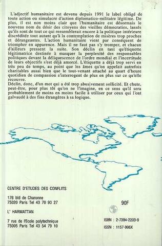 4eme Interventions armées et causes humanitaires